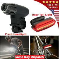 USB Rechargeable Cycling Light Bike Bicycle LED Front & Rear Tail Lamp Set USA