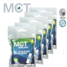 5 Sachet MCT de 100 Filtres Menthol avec Capsule pour cigarette à rouler