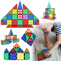 Magnetic Tiles 47 Piece Construction Toy Set Kids Building Blocks 3D Puzzle UK