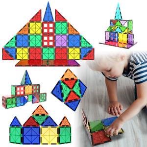 Magnetic Tiles 47 Piece Construction Toy Set Kids Building Blocks 3D Puzzle UK