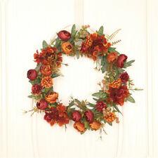 Artificial Flower Fall Tea Hydrangea Wreath Wreath Wall Hanging Wedding Decor