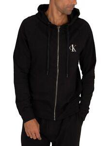 Calvin Klein Men's Lounge CK One Zip Hoodie, Black