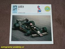 (1976-1977) LOTUS 78 JPS (Mario Andretti) - collector card/Karte 14x14 cm