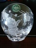 """Lenox Winnie The Pooh and Piglet Lead Crystal Collectible Bowl 3.5"""" RARE"""