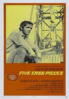 FIVE EASY PIECES Classic 70's Vintage Movie Poster - Wall Film Art Print - Jack