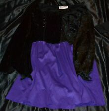 Witch Wizard Mage Magic Sorcerer Halloween Costume Fits Adults Size M/L Women