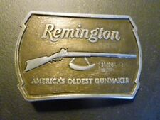 Vintage 1976 Remington Arms Company Solid Brass Belt Buckle 1816 Flintlock Rifle