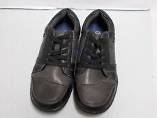 Tks Youth Black Grey Navy Laces Up Casual Walking Shoes Size 3