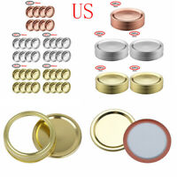 8 Sprouting Seal Lids Screw Bands+Rings w//Discs for Regular//Wide Mouth Mason Jar