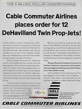 CABLE COMMUTER AIRLINES ONTARIO,CA ORDERS 12 DHC-6 TWIN OTTERS 1968 AD
