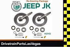 USA Standard Dana 30 + 44 Jeep Wrangler JK Ring and Pinion Gear Set Install Kits