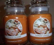YANKEE CANDLE ~ Gingerbread Treat~  22 oz. Lot of 2 NEW  FREE SHIP SALE!!!