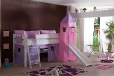 Vorhang mit Turmzelt Stoff für Hochbett Spielbett Kinderbett purple rosa Klett