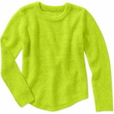 JORDACHE GIRLS LIME GREEN SPARKLE SWEATER 6 / 6X NWT FREE SHIPPING!
