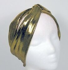 Gold Turban Headband Gold Head Wrap Flapper Headband Gold Turban Head Wrap