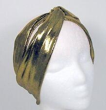 Gold Turban Headband Gold Head Wrap Flapper Headband Gold Turban Head Wrap