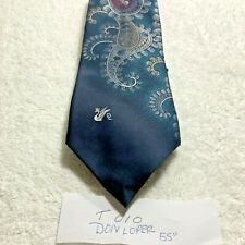 T010 Vintage Men's Tie Brand Don Lopez Beverly Hills Abstract Designers