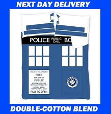 DR WHO TARDIS DOUBLE QUILT DUVET COVER SET, COTTON MIX Doctor Who
