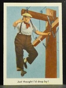 """Fleer Trading Card 1959 THREE STOOGES #47 """"Just Thought"""" EX-NM Nice Centering"""