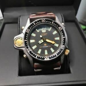 Rare Vintage CITIZEN Promaster Aqualand Diver Wrist Watch 200m C022-088093