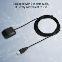 BLACK 2IN1 USB GPS Receiver Antenna Dual Glonass Module For Car Laptop Phone