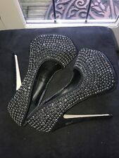 New Look Ribbon Party Heeled Platform Shoes size 3 (UK), black diva diamond stud