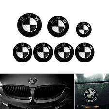 COMPLETE BLACK CARBON BADGE WHEEL CENTRE CAPS SET FOR BMW 1 3 5 Z3 Z4 X3 SERIES