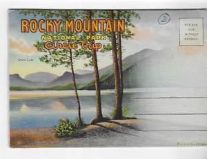 VINTAGE POSTCARD FOLDER-ROCKY MOUNTAIN NATIONAL PARK-CIRCLE TRIP