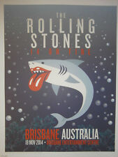 Rolling Stones 14 on fire tour lithograph poster  - brisbane australia-no filter