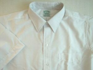 NOS Vintage BROOKS BROTHERS Mens Dress Shirt Size 15.5 Short Sleeve Rare!