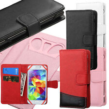 "Universal Smartphone Cover Folio Leather Flip Case Wallet Pouch Size 4.0""- 4.5"""