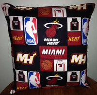 Miami Heat Pillow Miami Pillow NBA Handmade in USA
