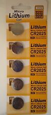 100 PCS CR2025 Micro Lithium Cell 3V coin/button style Batteries,USA Seller