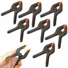 """8x Small Plastica 2"""" Primavera Morsetti Clip Grip bancarella mercato Micro Hobby Craft ARTE"""
