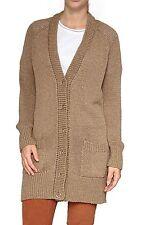 Lange Damen-Pullover & -Strickware mit Knöpfen und grober Strickart