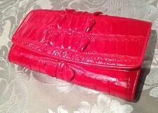 GENUINE CROCODILE SKIN  Womens Clutch Long Zip Wallet Lady Card Purse Handbag