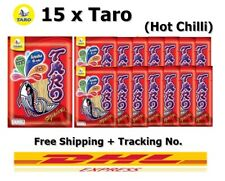 15 x Taro Fish Snack No Fat Halal Hot Chili Flavor Healthy Thailand 25 g DHL