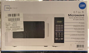 MAINSTAYS 0.7 Cu. Ft. 700W White Microwave Oven - NEW - Free Shiping