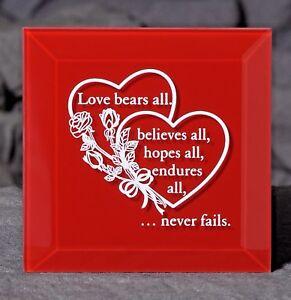 Love Keepsake Plaque