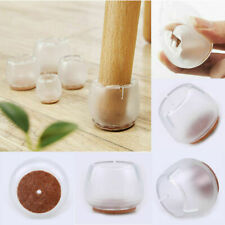 1-24pcs 12-22mm Non-slip Round Chair Table Legs Pad Cover Home Furniture Mute