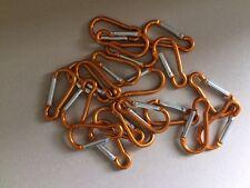 20 X gold Clip Hook Small Keyring Camping Sports Caribiner Carabiner 5 cm
