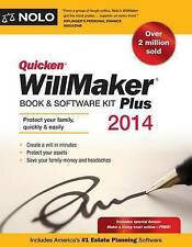 NEW Quicken WillMaker Plus 2014 Edition: Book & Software Kit by Nolo Editors