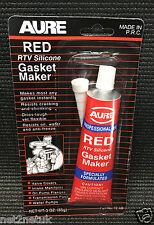 Aure RTV Silicona Junta Maker Roja Sellador De Alta Temperatura Kit de fabricante de gas
