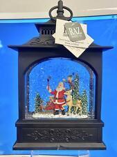 "RAZ Imports Santa Selfie Lighted Water Lantern 11"" Snow Globe Swirling Glitter D"