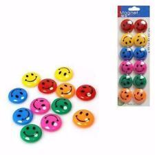 12 x Smiley Face Fridge Magnets Memo Magnetic Whiteboard Message Holder