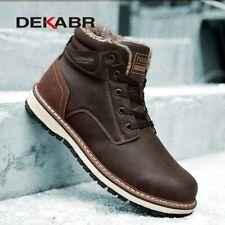 Botas De Nieve Resistentes Para Hombre Zapatos Cálidas Invierno Trabajo Casuales