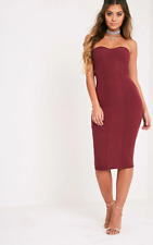 4cc13426f7ea3 PRETTYLITTLETHING Kayalla Black Bandage Dress Size UK 10 Dh079 II 28.  £20.69 New. Prettylittlething Kayalia Burgundy Bandeau Midi Dress Size UK  12 Dh082 II ...