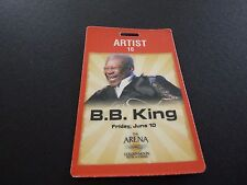 BB King Tour Issued Backstage Concert Pass LAMINATE Golden Moon Casino #1