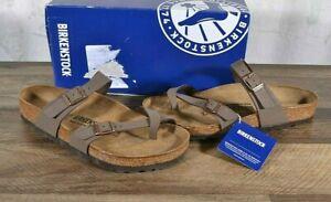 Birkenstock Mayari Birko-Flor Sandals Women's 8 Med Cork Shoes 0071061 Mocca 39