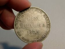 Very Rare 1835 German States Hesse Cassel Silver Thaler - Nice